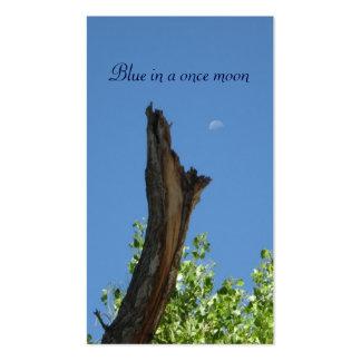 Azul en una vez un moon_template tarjetas de visita