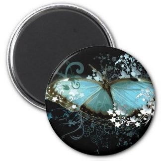 Azul encantado imán redondo 5 cm