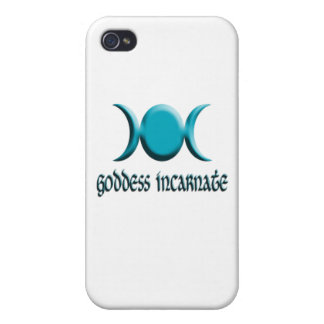 azul encarnado de la diosa iPhone 4 carcasa