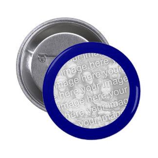 Azul enmarcado alrededor del botón de la foto pin