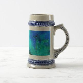 Azul enorme del gorila jarra de cerveza