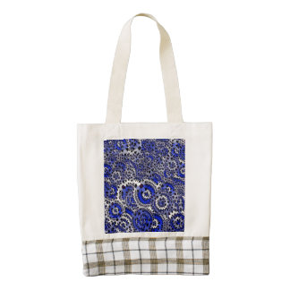 azul enrrollado de las flores (c) bolsa tote zazzle HEART