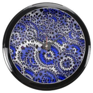 azul enrrollado de las flores (c) reloj aquavista