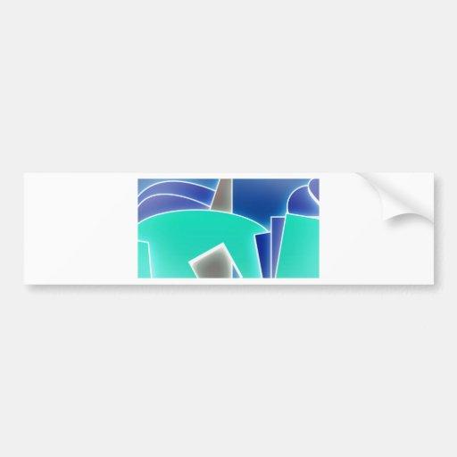 Azul enrrollado pegatina para auto