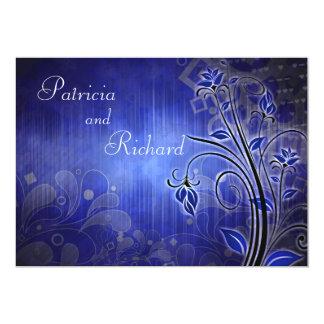 Azul entusiasta - invitación del aniversario invitación 12,7 x 17,8 cm