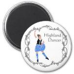 Azul escocés de Knotwork del Celtic del bailarín d Imanes Para Frigoríficos
