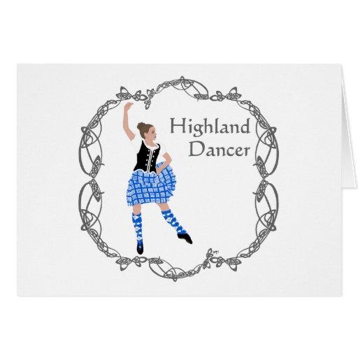 Azul escocés de Knotwork del Celtic del bailarín d Felicitación