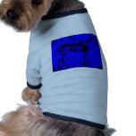 azul esquelético del caballo ropa perro
