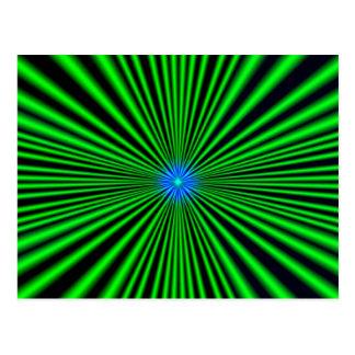 Azul - estrella verde postales
