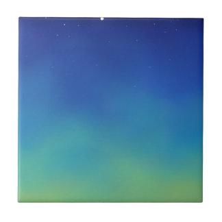 Azul estrellado de la madrugada tejas