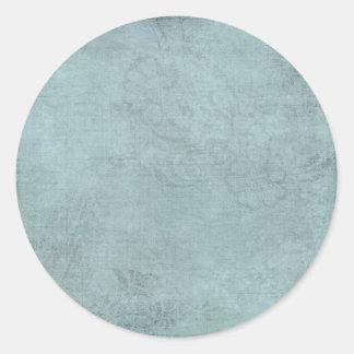 Azul estridente sutil de la lapa pegatina redonda