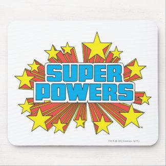 Azul estupendo del logotipo de Powers™ Alfombrilla De Raton