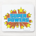 Azul estupendo del logotipo de Powers™ Alfombrilla De Ratón