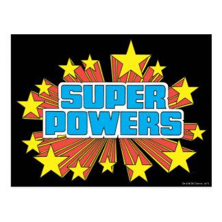 Azul estupendo del logotipo de Powers™ Postal