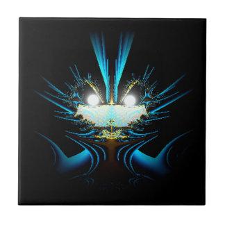 Azul extranjero del dragón de los ojos que brilla  azulejos cerámicos