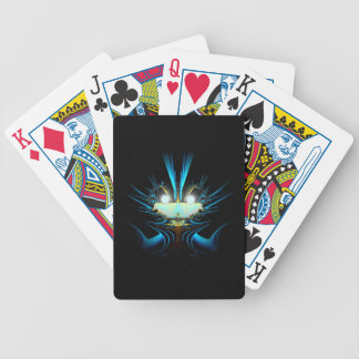 Azul extranjero del dragón de los ojos que brilla  barajas de cartas