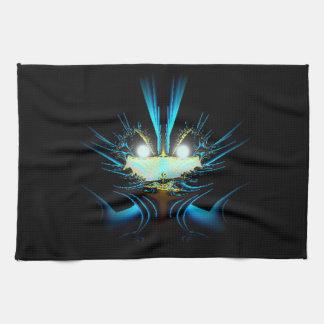Azul extranjero del dragón de los ojos que brilla  toalla
