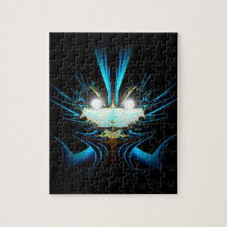 Azul extranjero del dragón de los ojos que brilla  puzzles con fotos