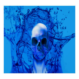 Azul extranjero poster