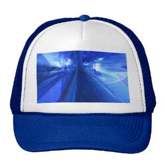 Azul fantástico gorros bordados
