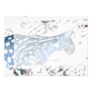azul felino africano de la acuarela del gato del s anuncios personalizados