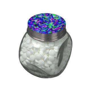 azul feliz de las tejas (c) frascos cristal