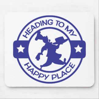 Azul feliz del chef de repostería del lugar A259 Alfombrilla De Raton