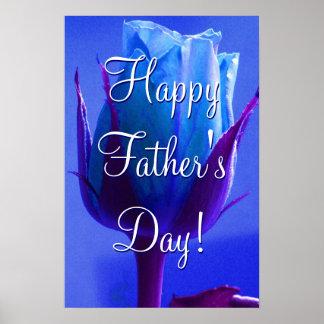 Azul feliz del día de padre subió póster