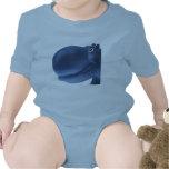 Azul feliz del hipopótamo camisetas