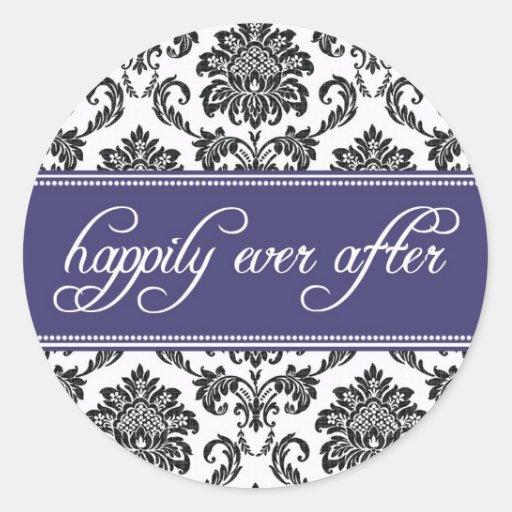 Azul feliz nunca después de casar al pegatina