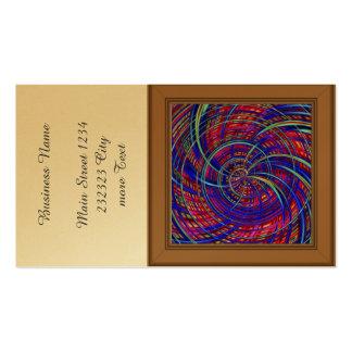 Azul feliz, rojo (c) tarjetas de visita