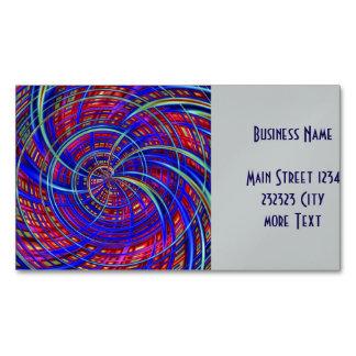 Azul feliz, rojo (c) tarjetas de visita magnéticas (paquete de 25)