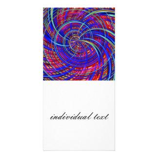 Azul feliz, rojo (c) tarjetas fotograficas personalizadas