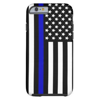 Azul fino Line.flag los E.E.U.U. Funda Resistente iPhone 6