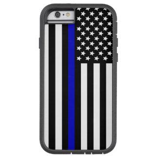 Azul fino Line.flag los E.E.U.U. Funda Tough Xtreme iPhone 6