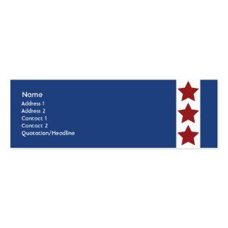 Azul - flaco plantilla de tarjeta personal