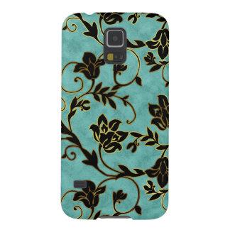 Azul floral de la cubierta del teléfono del nexo d