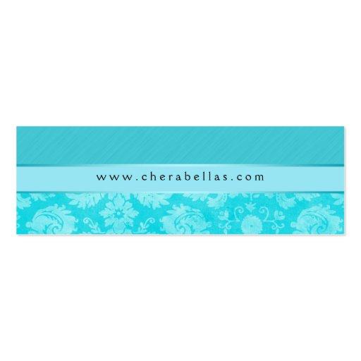 Azul floral de la flor del damasco del balneario d tarjetas de negocios