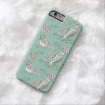 Azul floral del huevo de los petirrojos de la caja funda de iPhone 6 barely there