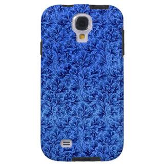 Azul floral del zafiro de la hoja del cordón del funda galaxy s4