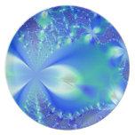 Azul floral platos