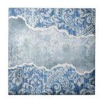 Azul floral rasgado azulejos ceramicos