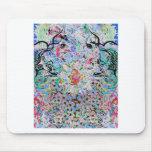 azul floral tapete de raton