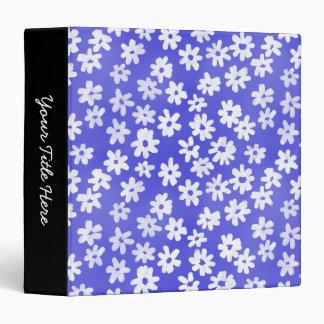 """Azul floral y blanco del estilo del batik (el carpeta 1 1/2"""""""