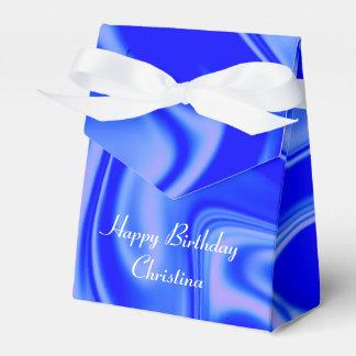 azul flúido de art01inky caja para regalo de boda