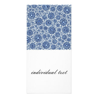 azul foral trippy (c) tarjeta personal