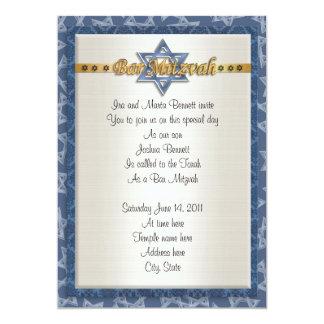Azul formal de la invitación de Mitvah de la barra