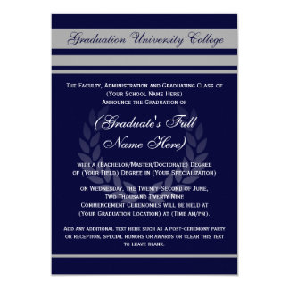 Azul formal del ~ de las invitaciones de la comunicado