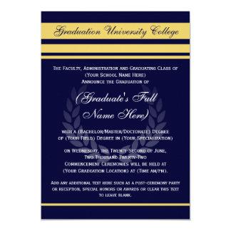 Azul formal del ~ de las invitaciones de la invitación 12,7 x 17,8 cm