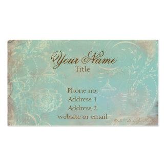 Azul francés Toile del vintage y tarjetas de visit
